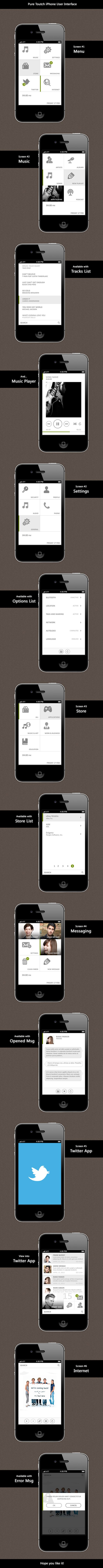Pure Toutch iPhone User Interface - Mobile Interface - Creattica