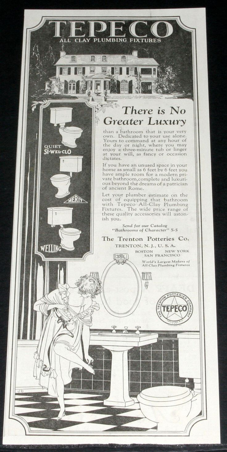 1925 old magazine print ad, tepeco, clay plumbing fixtures, your ...