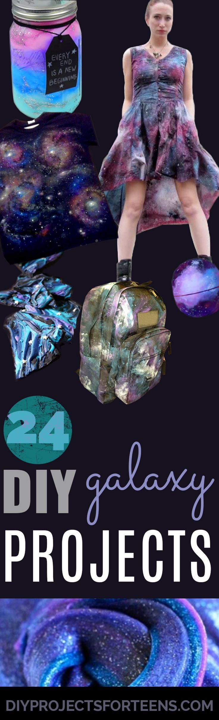 DIY Galaxy Crafts - Galaxy DIY Projects for Your Room, Gifts, Clothes. Ideas for…