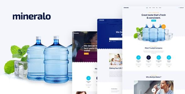 Mineralo Bottled Water Delivery Service For Home Office Psd Template Stylelib In 2020 Water Delivery Service Bottled Water Delivery Water Delivery