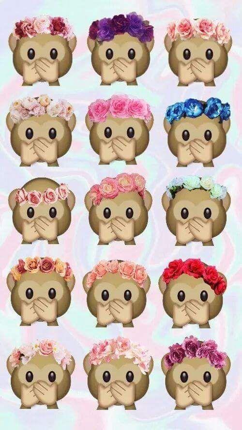 Imagen de monkey, wallpaper, and emoji