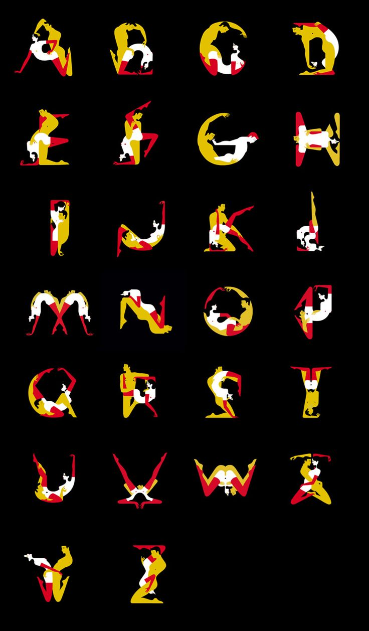 The Kama Sutra Cover Art Inspires Full Typographic Alphabet Prints and Animated Teaser malika favre