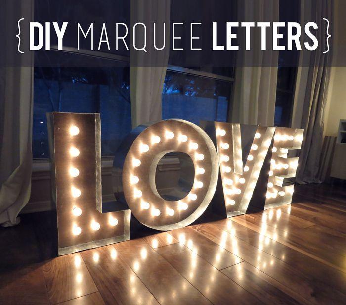 Makin' Loooooove… COMPLETE! {DIY Marquee Letters} - Evan & Katelyn