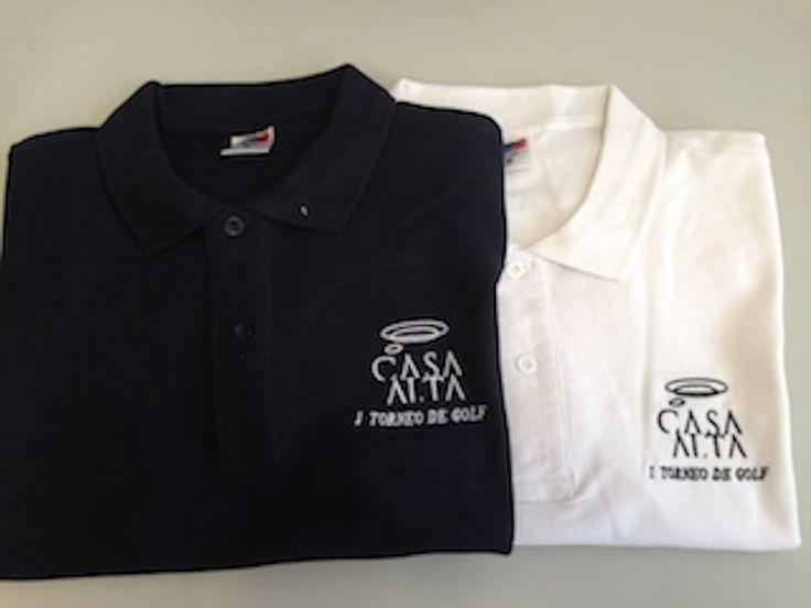 Polos bordados personalizados. Torneo golf Casa Alta Restaurante Sevilla.