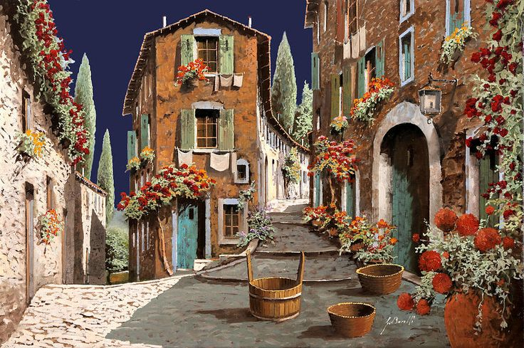 Due Strade Al Mattino Painting