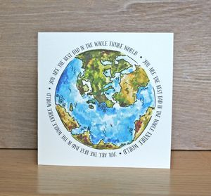 Map Of The World Best Dad Card