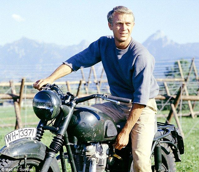 "Steve McQueen from the movie ""Great Escape"""
