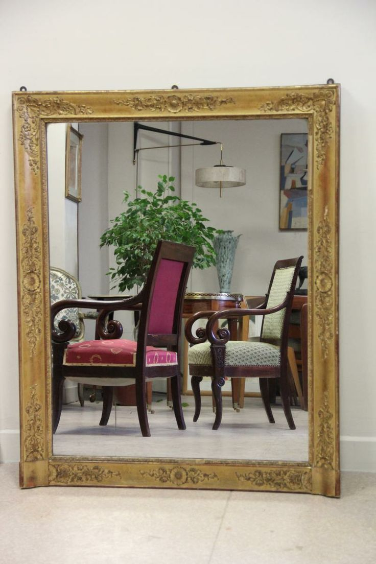 ancien miroir dore epoque restauration dantan proantic charles x restauration pinterest. Black Bedroom Furniture Sets. Home Design Ideas