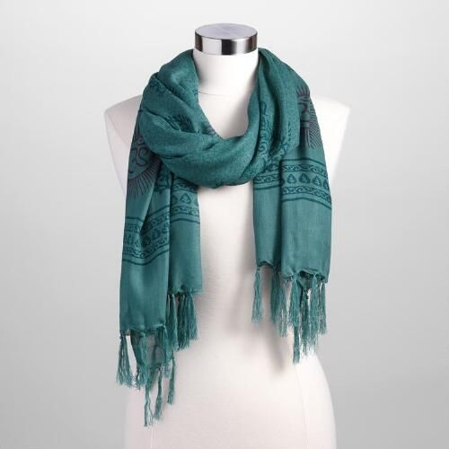 One of my favorite discoveries at WorldMarket.com: Forest Green Prayer Shawl