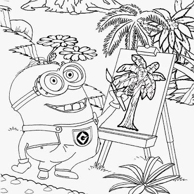 248 best images about Minions coloring