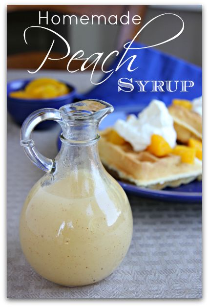 Drizzle this delicious and easy homemade peach syrup over waffles, pancakes, crepes or ice cream for a very fulfilling and satisfying flavor. Bakerette.com