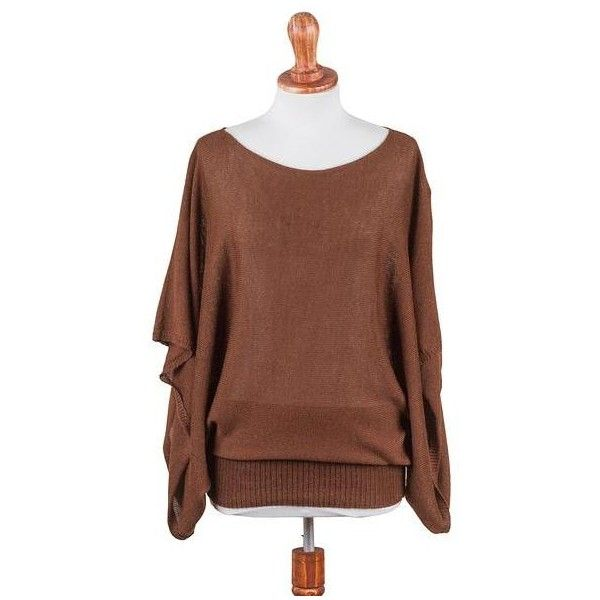 NOVICA 100% Alpaca Sweater for Women in Chestnut Brown from Peru (1.255 NOK) ❤ liked on Polyvore featuring tops, sweaters, brown, clothing & accessories, pullovers, novica, bateau neckline tops, brown pullover sweater, bateau neck sweater and batwing sleeve sweater