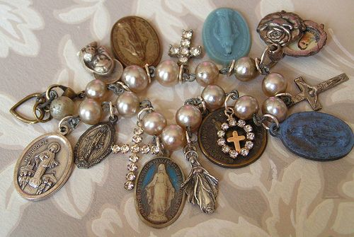 Love anything with old Rosaries!