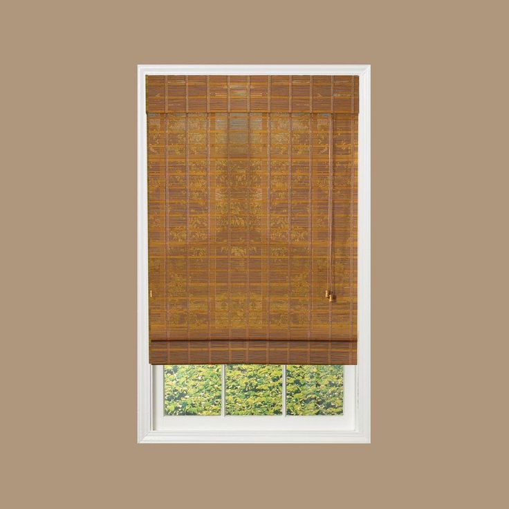 designview Sedona Natural Light Filtering Bamboo Roman Shade - 52 in. W x 72 in. L - 0213155 - The Home Depot