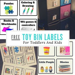Toy Bin Labels For Toddlers And Kids