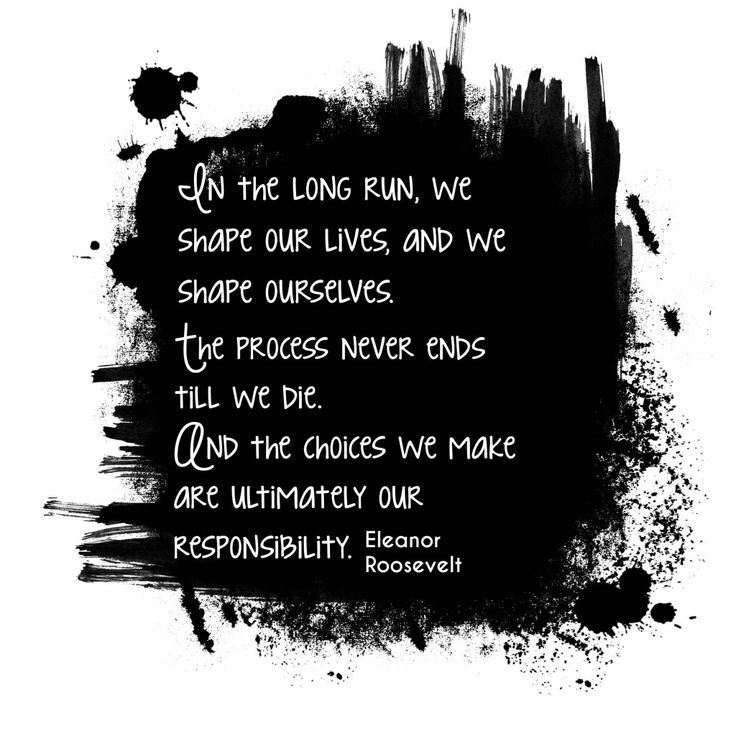 Inspiring Quotes Eleanor Roosevelt: The Choices We Make Are Ultimately Our Responsibility