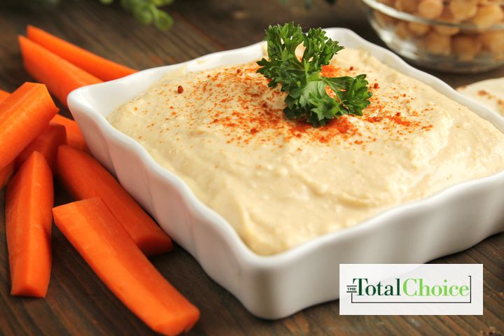 Total Choice Hummus and Veggies: Get your fix for Mediterranean cuisine with this snack. Eat this recipe on the Total Choice 1200-calorie plan.