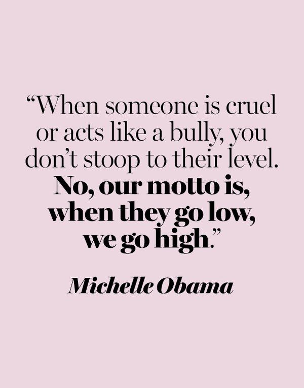 Quote Bully : quote, bully, Michelle, Obama, Quotes, Glamour, Quote,, Quotes,, Bullying