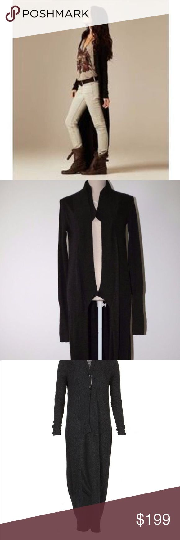All Saints Dagma Maxi Cardigan Wool Sweater 10 This is an authentic All Saints Dagda maxi cardigan. Size US 10. Dark chocolate. Has large safety pin for closure. Great condition. Made of 33% viscose 24% nylon 10%  cotton 15% lambs wool 5% cashmere 1% angora. All Saints Sweaters Cardigans