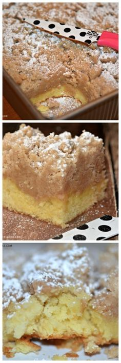 Shortcut Crumb Cake. Made with a boxed cake mix so it's super quick and easy!