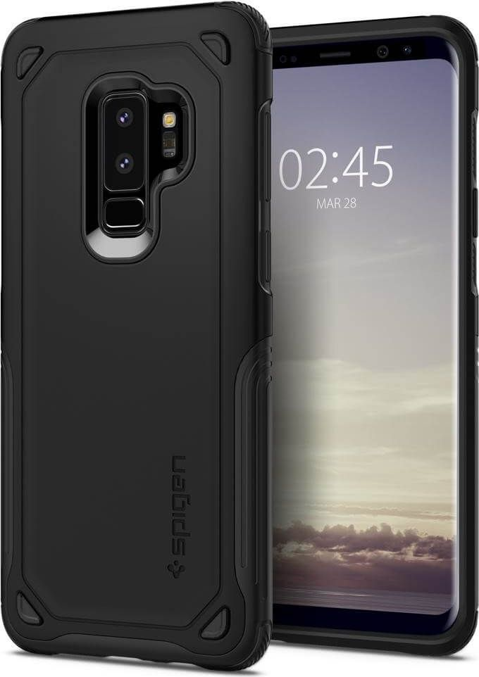 best cheap f3af5 1bf34 Spigen Galaxy S9 Plus Case Hybrid Armor Black in 2019 | Best Buy ...