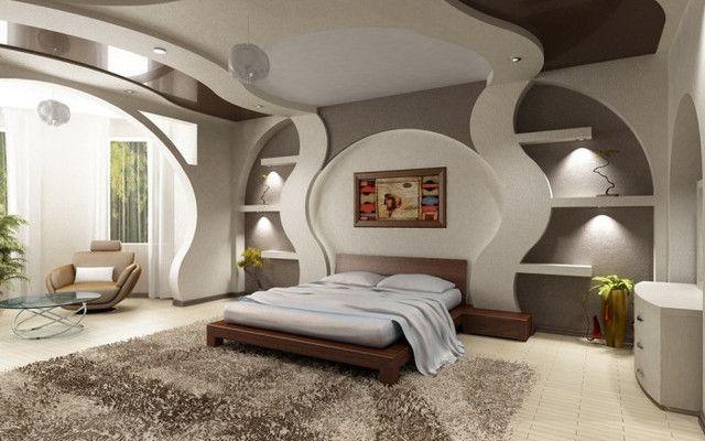 конструкции на стене спальни из гипсокартона - Поиск в Google
