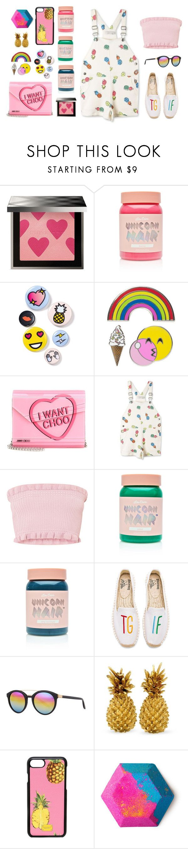 """pink mood"" by lanagur on Polyvore featuring мода, Burberry, Lime Crime, Bing Bang, iDecoz, Jimmy Choo, STELLA McCARTNEY, Soludos, Barton Perreira и Dolce&Gabbana"