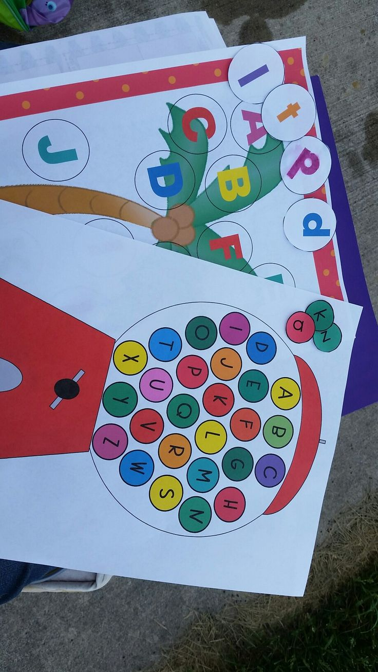 Chicka Chicka Boom Boom and Gumball Machine Matching letter recognition games. These 2 games are part of a 5 pack letter recognition game packet. Other games include different font recognition, mini Play-doh mats and Wipe-It boards. All games come in color and black and white.