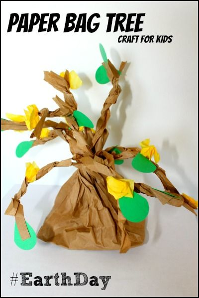 Paper Bag Tree for Earth Day #kids #craft