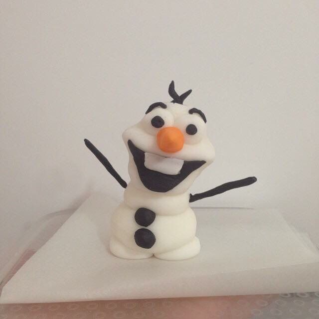 Olaf - made from fondant