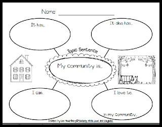 Community Graphic Organizer (freebie)