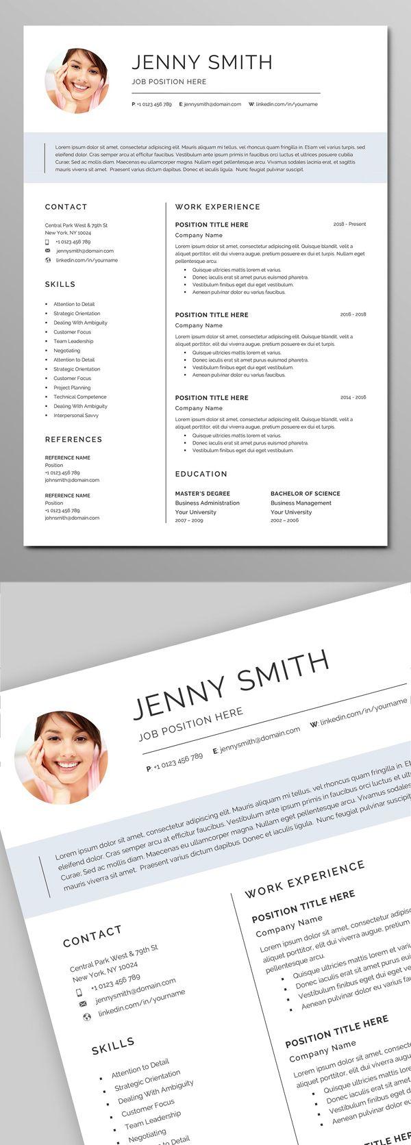 Resume Template Word Modern Clean Cv Cv Template Logo Tutorial Resume Templates