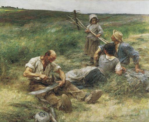 Het hooien, 1887, Léon-Augustin Lhermitte, Van Gogh Museum, Amsterdam (aankoop met steun van de Vincent van Gogh Stichting)