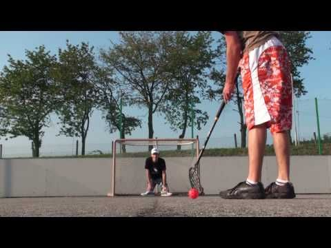 This is the most watched vid on youtube - showing playful floorball talent... the plastic ball thinghy -Americans yet to discover this ;-)
