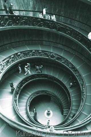 Von Giuseppe Momo, Vatikanische Museen, Wendeltreppe, Spirale