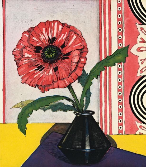 Criss Canning (b.1947) — Oriental Poppy (615x700)