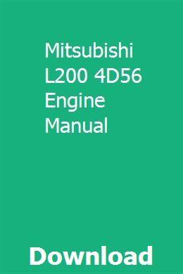 Mitsubishi L200 4D56 Engine Manual | indexdera | Repair