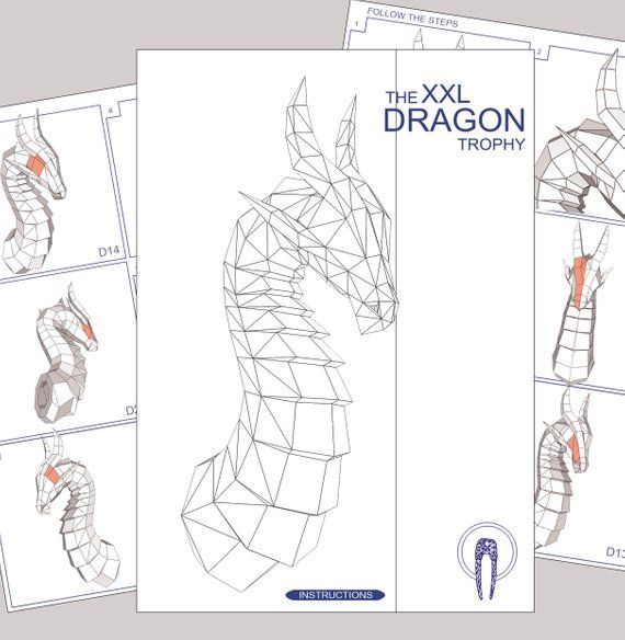 Delightful Dragon Head Origami : Origami Instructions To Make A ... | 584x570
