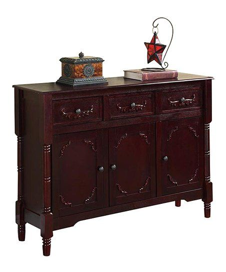 Pilaster Designs Cherry Three-Drawer Console Table | zulily