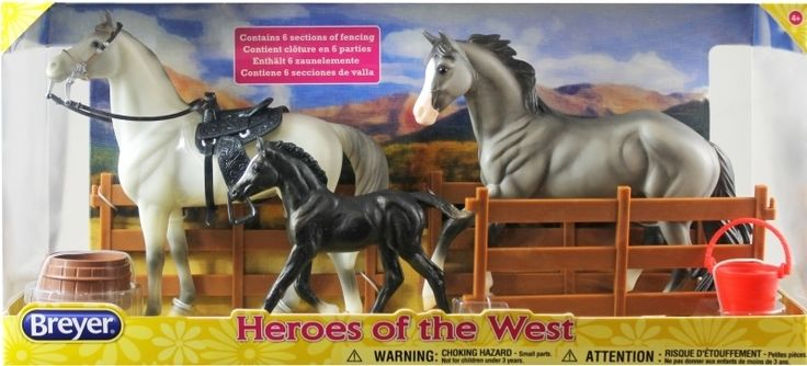 Golden Oak Stables - Breyer Horses Classics Heroes of the West, $44.99 (http://www.goldenoakstables.com/breyer-horses-classics-heroes-of-the-west/)