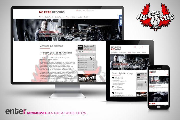 Informacja za strony https://agencyenter.pl Realizacje strony internetowej nofearrecords z Rybnika