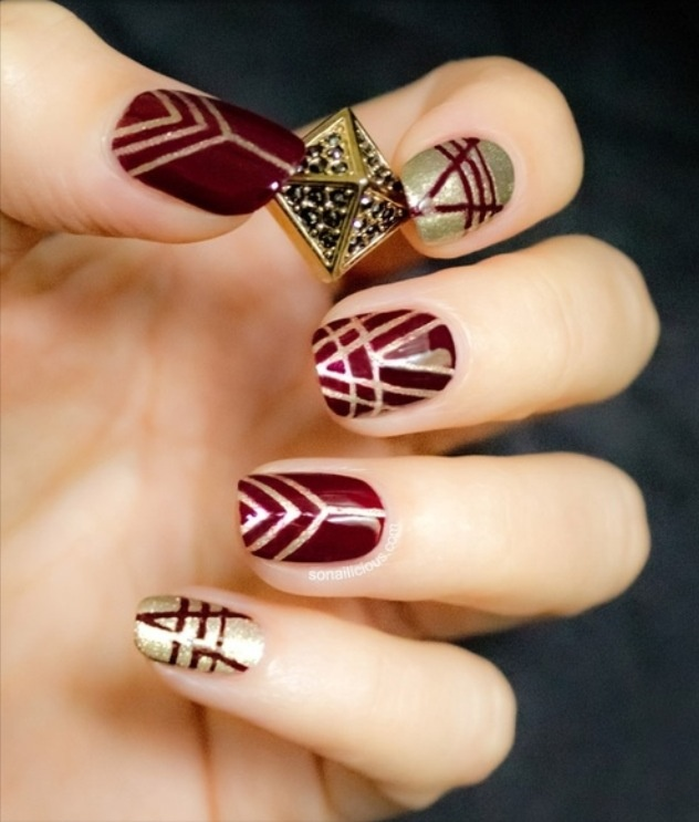 Christmas nail designs buzzfeed amazing nails that will get you fandoms expressed with nail art view images edgy prinsesfo Choice Image