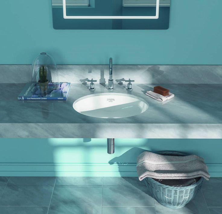 Catalano Canova Royal łazienka niebiesko-szara