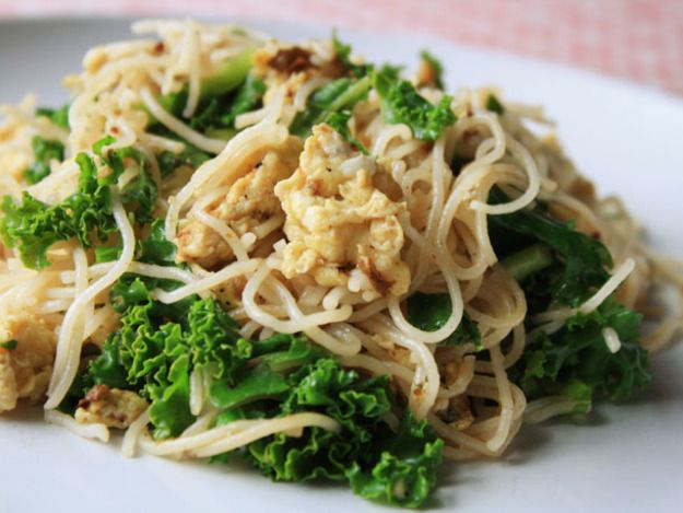 Stir-Fried Rice Noodles with Eggs and Greens Recipe   Serious Eats