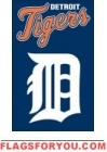 "Tigers Applique Banner Flag 44"" x 28"""