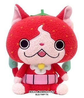 Yokai Watch Strawberry nyan Plush Doll Japan Bandai youkai yo-kai Free Shipping #Bandai