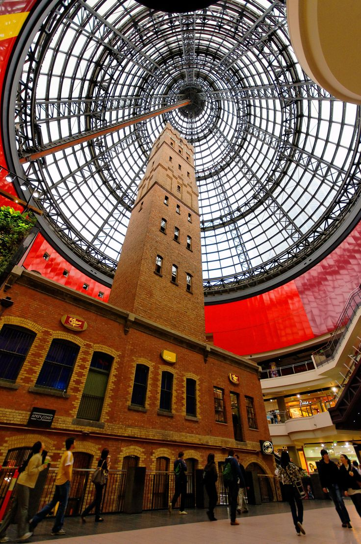 Coop's Shot Tower, Melbourne. Completed in 1888, with a dome built around it.