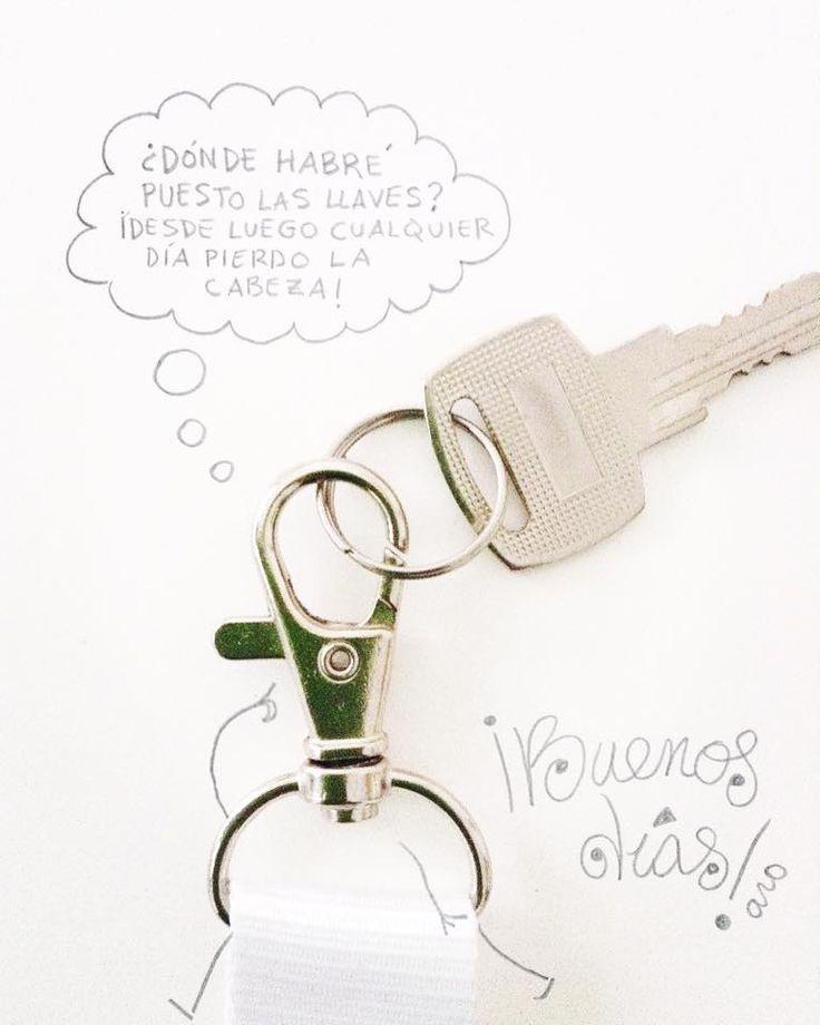 Etiquetas: llavero, objetos, llaves, humor, caritas, lápiz, montaje fotográfico, fondo blanco, buenos días,