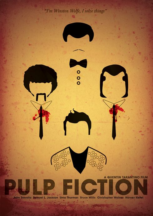 pulp fiction affiche film minimaliste