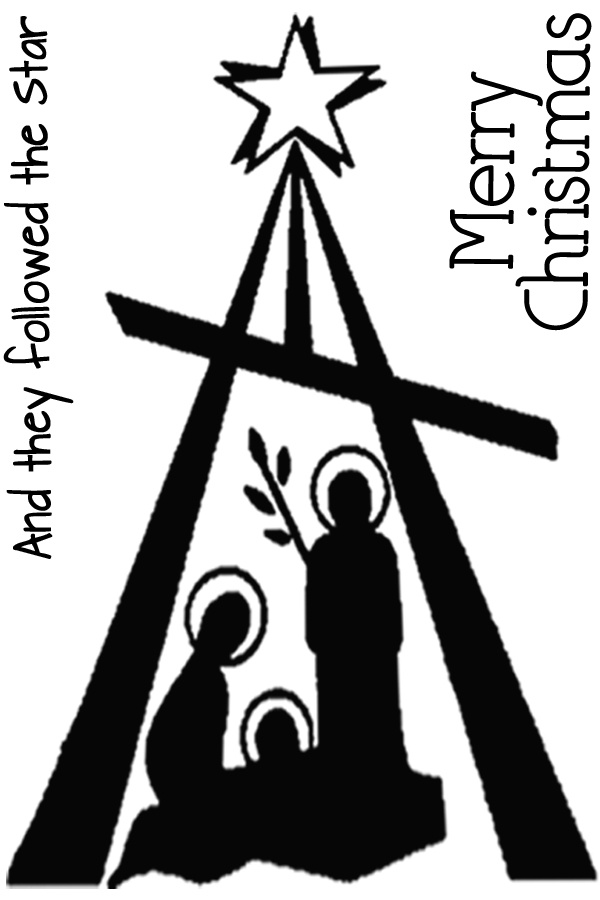 Nativity -modern silhouette